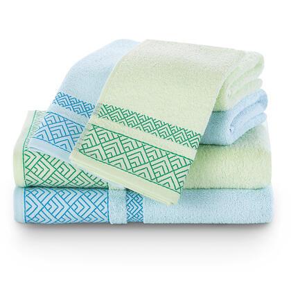 Zestaw ręczników VOLIE niebieskie i zielone 6 szt.
