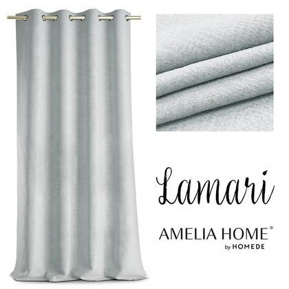 Zasłony BLACKOUT LAMARI srebrne 140 x 250 cm