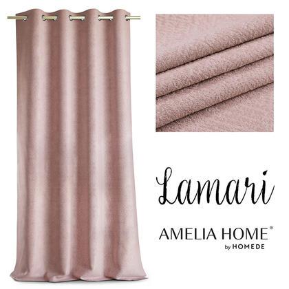 Zasłony BLACKOUT LAMARI różowe 140 x 250 cm
