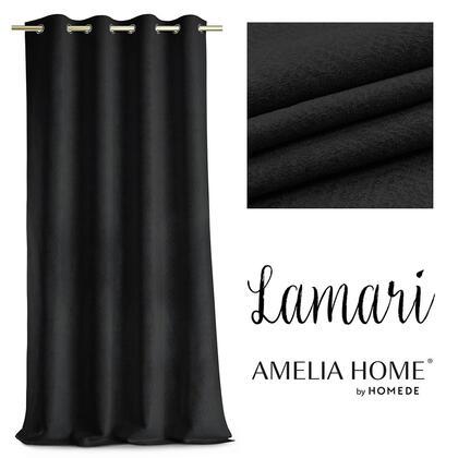 Zasłony BLACKOUT LAMARI czarne 140 x 250 cm