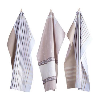 Ścierki kuchenne z egipskiej bawełny JITKA beżowe 50 x 70 cm 3 szt.