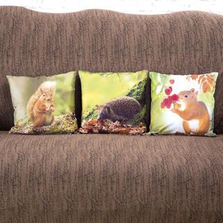 Poszewki na poduszki z mikrowłókna ZWIERZĘTA 3 szt.
