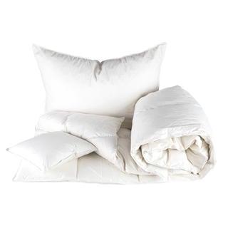 Pikowana kołdra 140 x 200 cm i poduszka 70 x 90 cm z wypełnieniem pierzowym