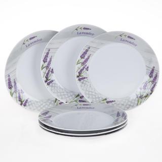 Ceramiczny zestaw talerzy deserowych Lawenda, 6 sztuk