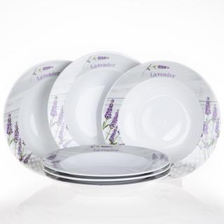 Zestaw ceramiczny głębokich talerzy Lawenda, 6 sztuk