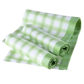 Bambusowe ścierki karo zielone, 3 szt.
