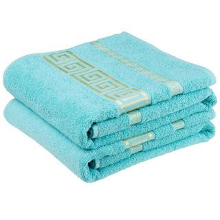 Bawełniane ręczniki frotte Ateny, turkusowe