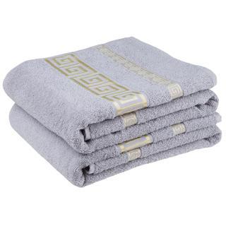 Bawełniane ręczniki frotte Ateny, szare