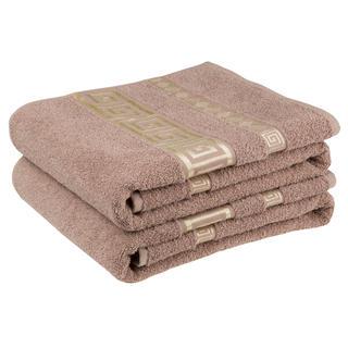 Bawełniane ręczniki frotte Ateny, brązowe