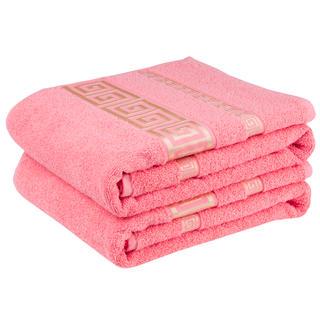 Bawełniane ręczniki frotte Ateny, łososiowe
