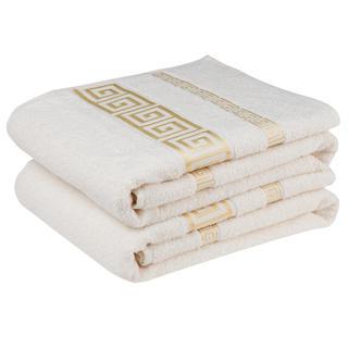 Komplet ręczników frotte ATÉNY kremowy 50 x 90 cm