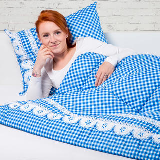 Zestaw letniej kołdry i poduszki Matylda niebieska