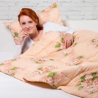 Zestaw letniej kołdry i poduszki Leontyna beżowa