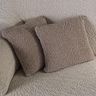 Bi-elastyczne pokrowce BUKLÉ orzeszkowy, poszewki na poduszkę 2 szt. (40 x 40 cm)