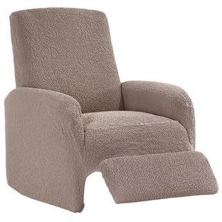 Bi-elastyczne pokrowce BUKLÉ orzeszkowy, fotel relaks (sz. 70 - 90 cm)