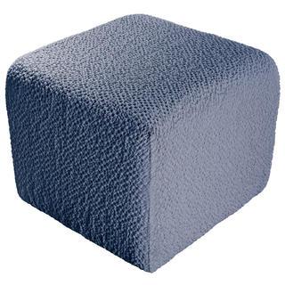 Bi-elastyczne pokrowce BUKLÉ denimowy pufa (40 x 40 x 40 cm)