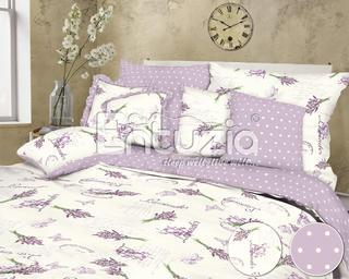 Pościel bawełniana Lavender fioletowa 2 szt.