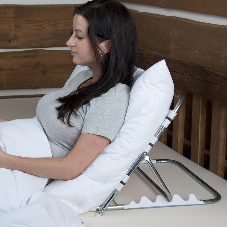 Podpórka zagłówek pod plecy z poduszką do łóżka