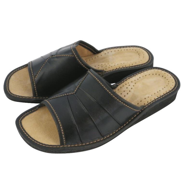Pantofle domowe damskie czarne rozmiar 36