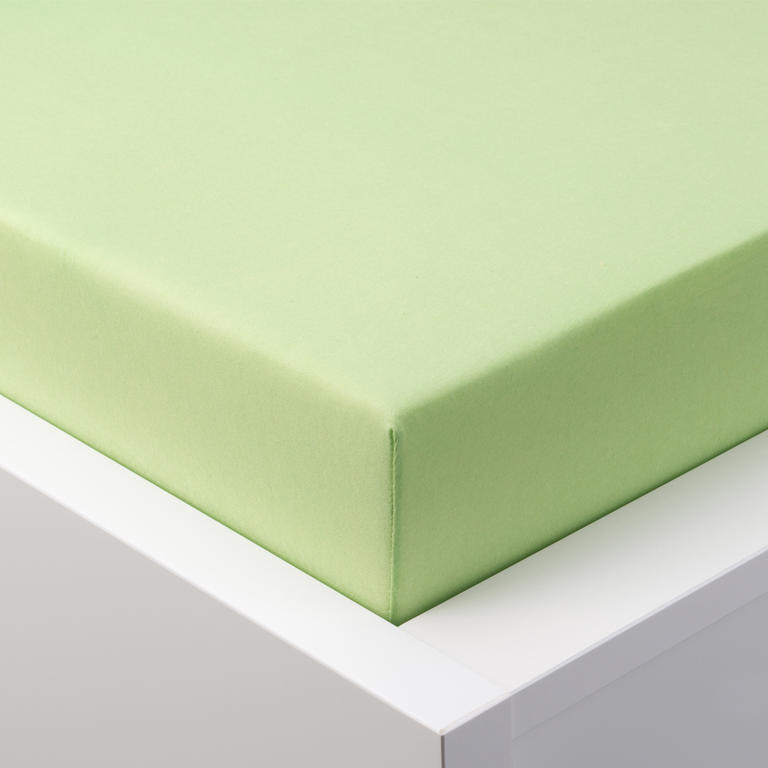 Prześcieradło Jersey z lycrą do napinania - zielone łóżko podwójne