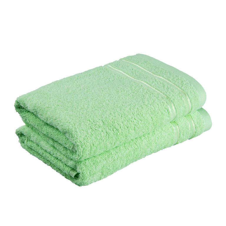 Ręczniki frotté Nina zielone jabłko zestaw 2 sztuk