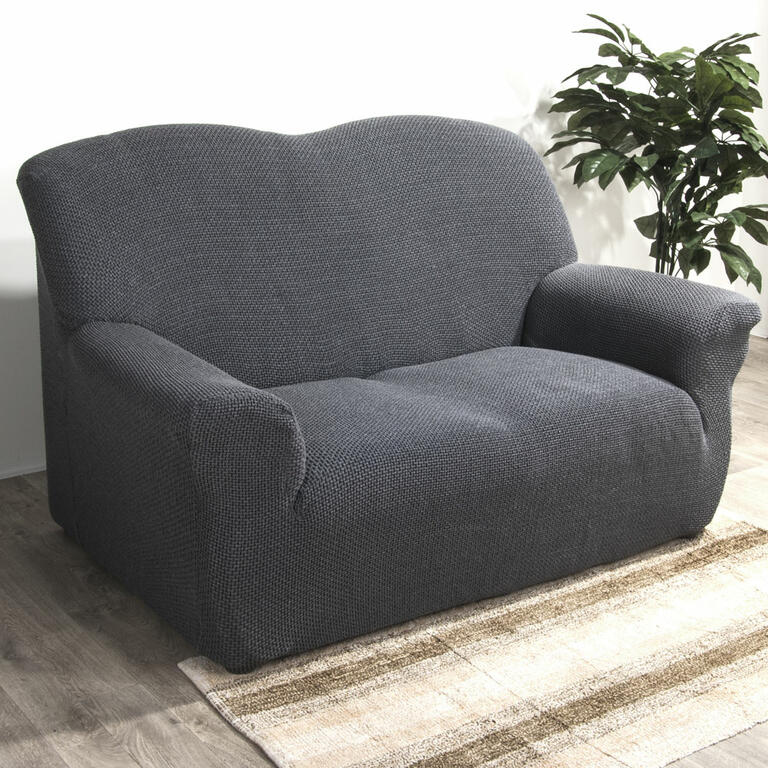 Groovy Elastyczne pokrowce CARLA szare fotel uszak (sz. 60 - 100 cm) - deDoma OE41