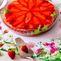 Truskawkowe ciasto bez mąki