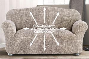 Cudowna Bi-elastyczne pokrowce GRAFITI beżowe fotel (sz. 60 - 110 cm) - deDoma MK98